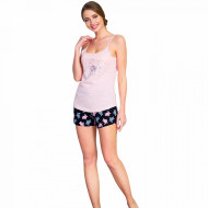 Pijamale Dama Vienetta, 'Beauty & Awesome' Culoare Roz