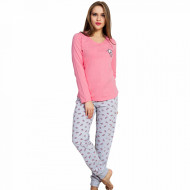 Pijamale Dama Vienetta, 'Smile, Fun & Happiness' Pink
