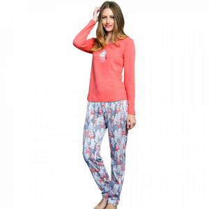 Pijamale din Bumbac Interloc, Good Look, 'Love is Sweet' Pink