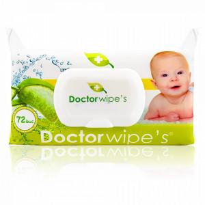 Servetele Umede cu Extract de Aloe Vera Baby Doctor Wipe's 72 Buc