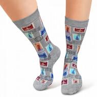 Sosete Clasice Colorate Unisex Cosas Boutique Socks Model 'TIme Traveler'