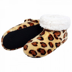 Papuci de Casa tip Cizmulite Animal Print, Model 'Andina'