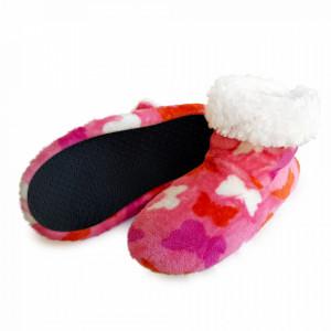 Papuci de Casa Tip Cizmulite 'Butterfly Effect' Pink