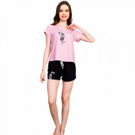Pijamale Dama Vienetta, 'Zebra Loves Sun' Pink