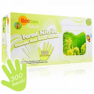 Manusi Examinare Nitril Naturale si Nepudrate BeeSure Naturals 300 Buc