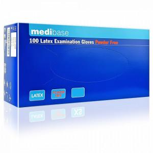 Manusi Examinare Latex Nepudrate Natural Alb MediBase® 100 Buc