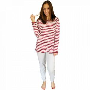 Pijamale Dama Maneca Lunga Milk and Honey, Model Love In Pink