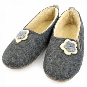 Botosei de Casa Balerini din Postav Imblaniti cu Lana de Oaie 'Tradition Simplicity' Gray