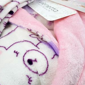 Halat Dama cu Gluga Extra Soft Vienetta 'Lovely Bear'