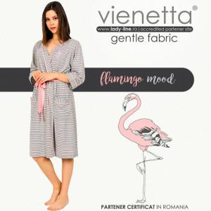 Halate de Dama Confortabile Vienetta Model 'Flamingo Mood'