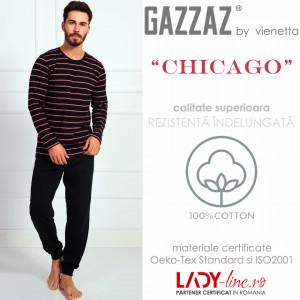 Pijama Barbati Gazzaz by Vienetta, 'Chicago' Black