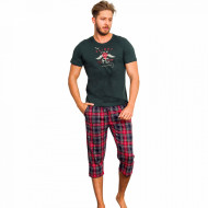 Pijama Barbati Gazzaz by Vienetta, 'Flight Crew' Green