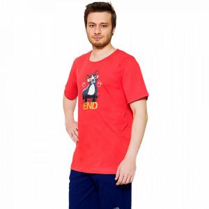 Pijama Barbati Gazzaz by Vienetta, 'WeekEND' Red