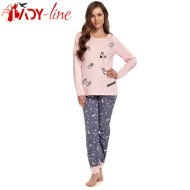 Pijama Dama Maneca/Pantalon Lung, 'World Of Unicorn', DN Nightwear