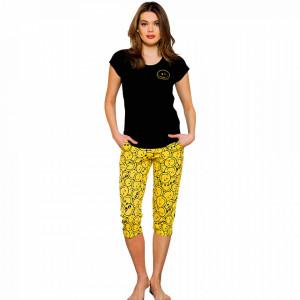 Pijama Dama Vienetta Bumbac 100% 'Be Happy'