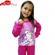 Pijamale Copii Fetite, Season Of, Baki Collection , Bumbac 100%, Culoare Fuchsia/Roz