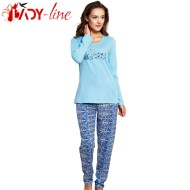 Pijamale Dama Bumbac 100%, 'Prety Girl' Blue, Vienetta Secret
