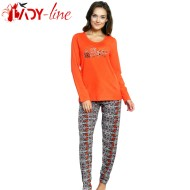 Pijamale Dama Bumbac 100%, 'Prety Girl' Orange, Vienetta Secret