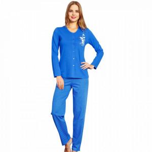 Pijamale Dama cu nasturi Vienetta, 'Elite ... is Cute' Blue