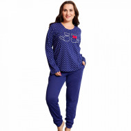 Pijamale Dama Marimi Mari Vienetta Model 'Love Story' Blue