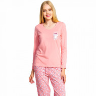 Pijamale Dama Vienetta Bumbac 100% 'Sweet Dreams' Pink