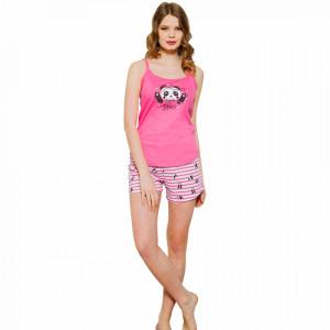 Pijamale Dama Vienetta, 'Catch the Stars' Culoare Roz