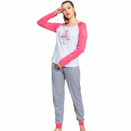 Pijamale Dama Vienetta Model 'My Sweety Dreams' Pink