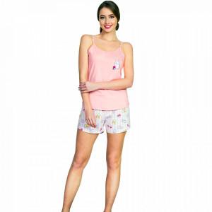 Pijamale Dama Vienetta, 'Yummy Bunny' Culoare Roz