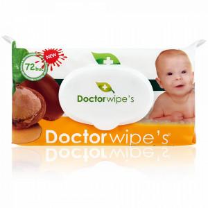 Servetele Umede cu Ulei de Argan Organic Baby Doctor Wipe's 72 Buc