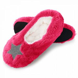 Papuci de Casa Tip Saboti, 'Star Intens Pink'