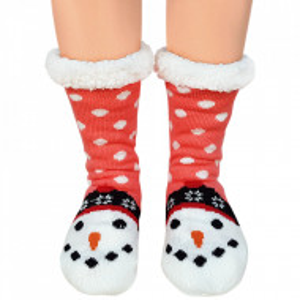 Ciorapi Imblaniti Lady-Line, 'Happy Snowman'