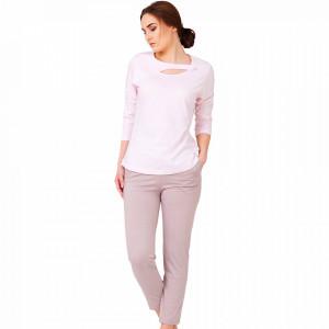 Pijamale Dama Bumbac, M-Max, Model 'Glame & Pink' Pink