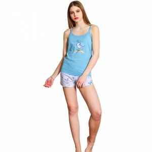 Pijamale Dama Vienetta, Bumbac 100%, 'Belive in Unicorns'