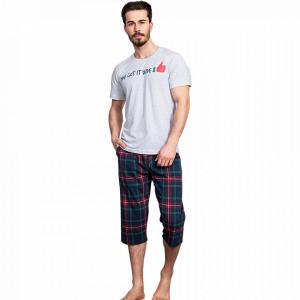 Pijama Barbati Gazzaz by Vienetta, 'You Got It Dude' Gray