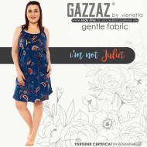 Camasa de Noapte Marimi Mari din Bumbac 100%, Vienetta Model 'I'm Not Juliet'