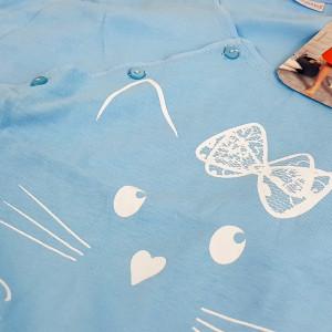 Camasa pentru Gravide si Alaptat Vienetta 'Just Meow' Blue