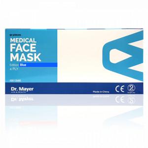 Masca Faciala Medicala cu 4 Straturi Dr. Mayer Blue Edition, Cutie 50 Bucati
