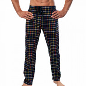 Pantaloni Pijama Barbati din Bumbac Gazzaz by Vienetta 'Hypnotic' Dark