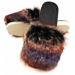Papuci de Casa cu Blanita Culoare Roz Mineral Model 'Lounge Desire' Foxy