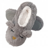 Papuci de Casa Tip Saboti, 'Sleeping Kitty' Gray