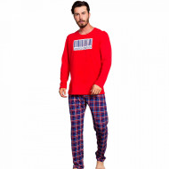 Pijama Barbati Bumbac 100% Gazzaz by Vienetta 'Limited Edition' Red