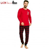 Pijama Barbati Gazzaz by Vienetta, 'BRONX - Urban' Red