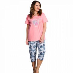 Pijama Dama din Bumbac, Vienetta, Model Love You More