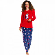 Pijama Dama Soft Velur, Vienetta, 'Dream Big' Red