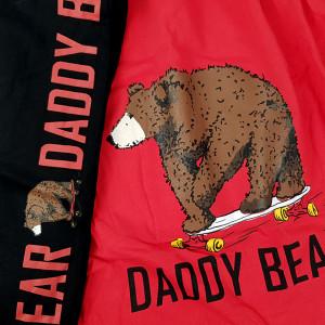 Pijamale Barbati Bumbac 100% Gazzaz by Vienetta 'Daddy Bear' Red
