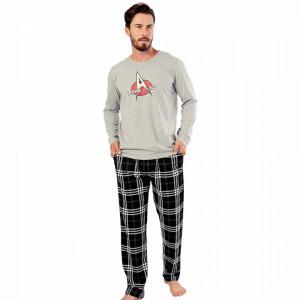 Pijamale Barbati Confortabile Gazzaz by Vienetta Model 'Make It So' Gray