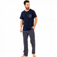 Pijamale Barbati din Bumbac 100% Gazzaz by Vienetta Model 'Elite Steel'