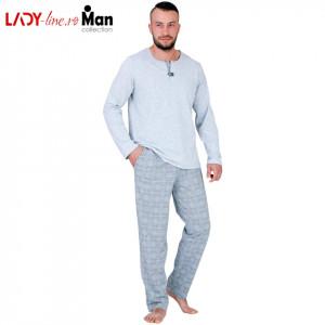 Pijamale Barbati M-Max, Bumbac 100%, 'Northern Pride'