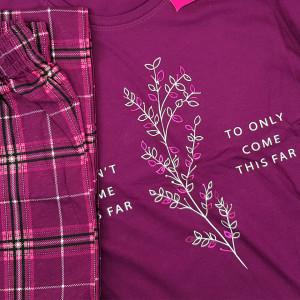 Pijamale Confortabile Marimi Mari Vienetta Model 'Feeling Good' Purple