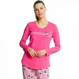 Pijamale Dama din Bumbac Vienetta Model 'Cute Love Enjoy'